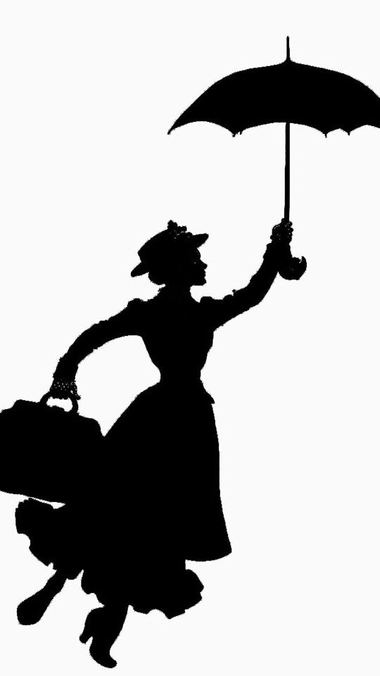 Mary Poppins | Silhouette | Pinterest | Mary poppins