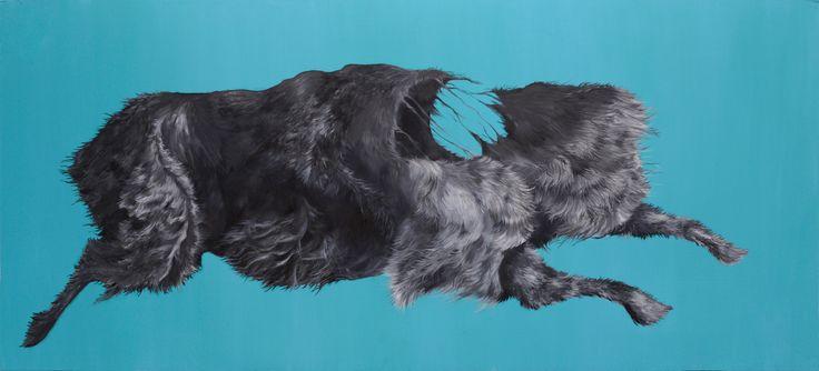 Ida Sandberg, Matkalla, 93 x 207, Acryl and oil color on mdf board
