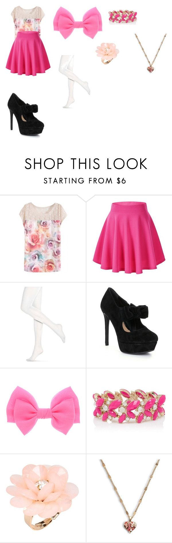 """A Girly Outfit for Liv Rooney"" by sierra-ivy on Polyvore featuring Hue, Gianni Bini, Forever New, Dettagli, Vera Bradley, women's clothing, women's fashion, women, female and woman"