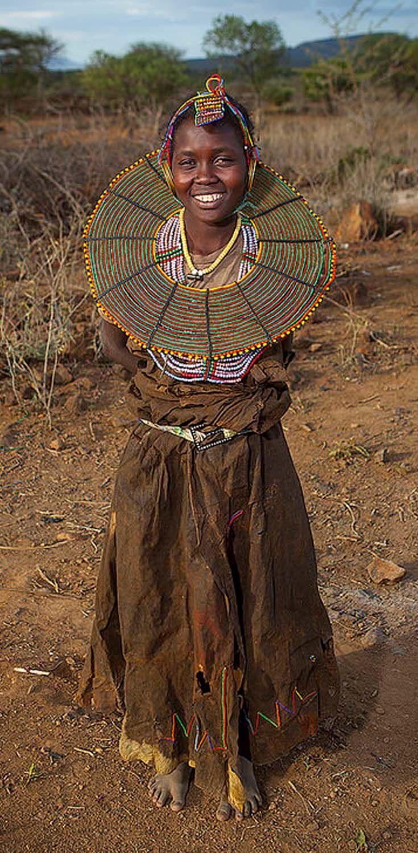 Africa | Young Pokot woman. Baringo County, Baringo, Kenya. | ©Eric Lafforgue
