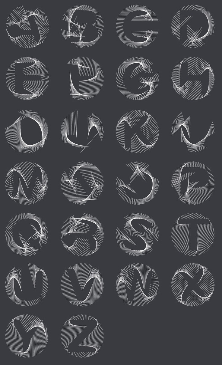 vintage balenciaga A 3D Typeface That Morphs Into Every Letter Of The Alphabet