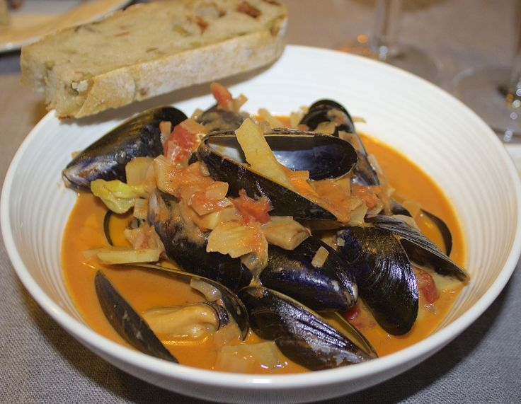 Blåskjell suppe med fenikkel og tomat (grysmat)