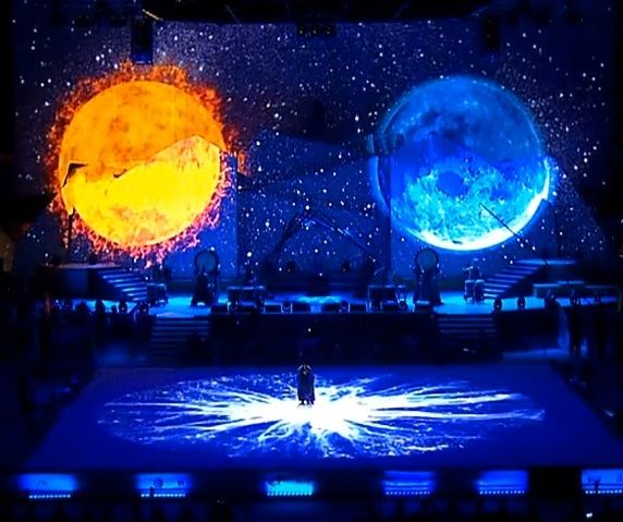 Video-installation at the World Championship in Kyokushinkai #dreamlaser #mapping #videoinstallation #videoproject