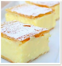I LOVE custard slices - if only i could cut them without squishing out all the custard filling...