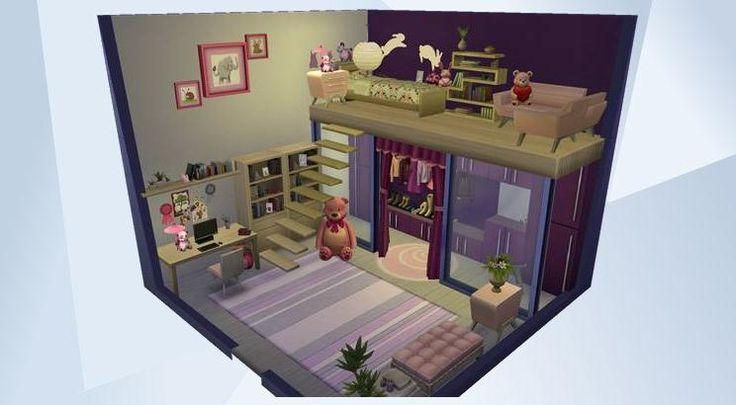 Découvrez cette pièce dans la Galerie LesSims4! - #pink #girly #girl #sweet #modern #cute #funny #lovely #bedroom #room