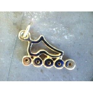 Cut Out Inline Skate Pendant Small