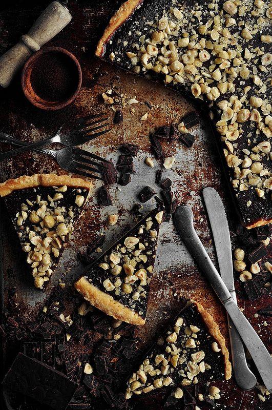 Chocolate Espresso Hazelnut Tart - The Candid Appetite