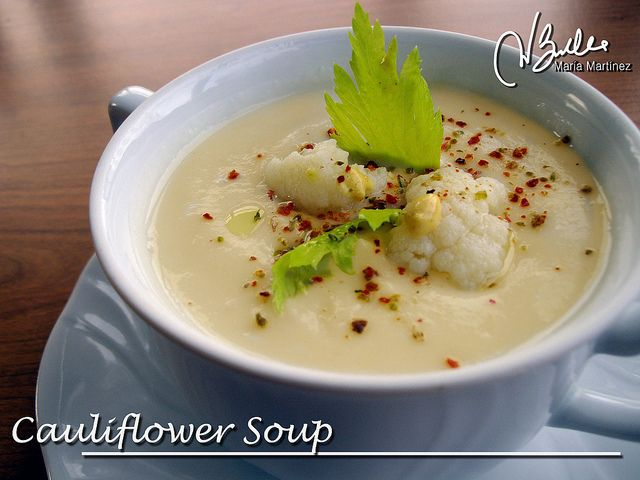Wisconsin Cauliflower Soup (Dukan diet, Cruise phase) via Flickr.