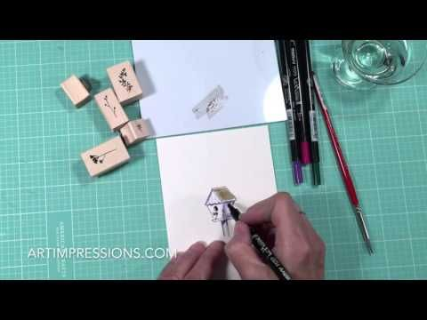 Art Impressions Blog: NEW VIDEO! Watercolor Wednesday Series - Blooming Birdhouse