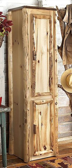 could use a few of these . . . Rustic Log Home Furniture | Aspen Linen Closet