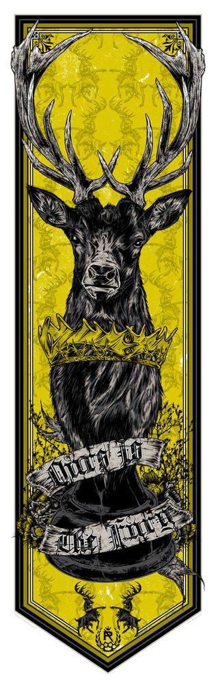 Game of Thrones Banner Baratheon Series - Rhys Cooper  #got #gameofthrones #fanart