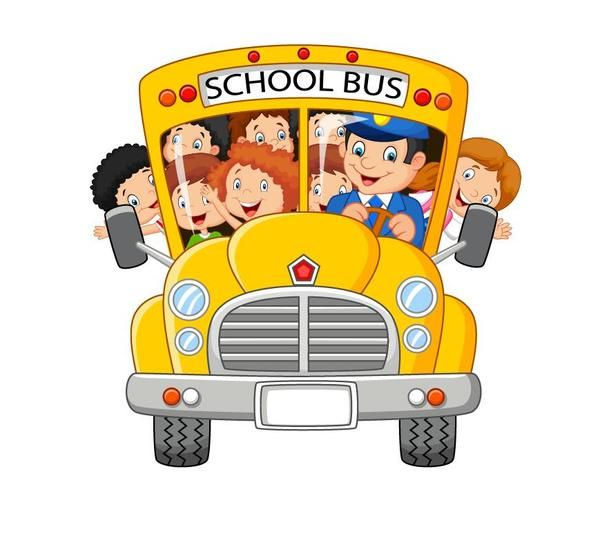 Cartoon School Bus And Students Vector Com Imagens