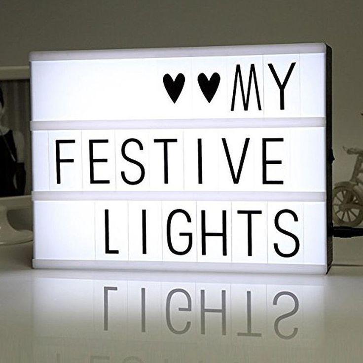 Lichtbox LED Leuchtkasten A4 Light Letter Box Filmische Licht Zeichen Box mit 90 Buchstaben Ziffern und Zeichen