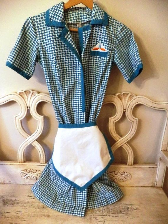Vintage 1960s Howard Johnson S Waitress Uniform Xs