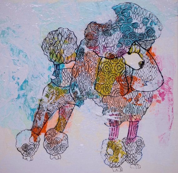Original drawing Fancy Poodle by mateasinkovec on Etsy, $ 40.00