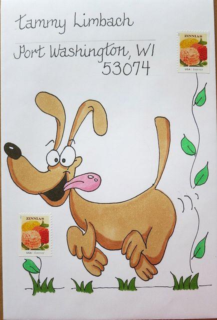Mail art envelope to Tammy Mail Art #mailart #snailmail #happymail