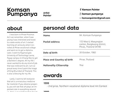 """Check out new work on my @Behance portfolio: """"Curriculum Vitae"""" http://be.net/gallery/37421301/Curriculum-Vitae"""