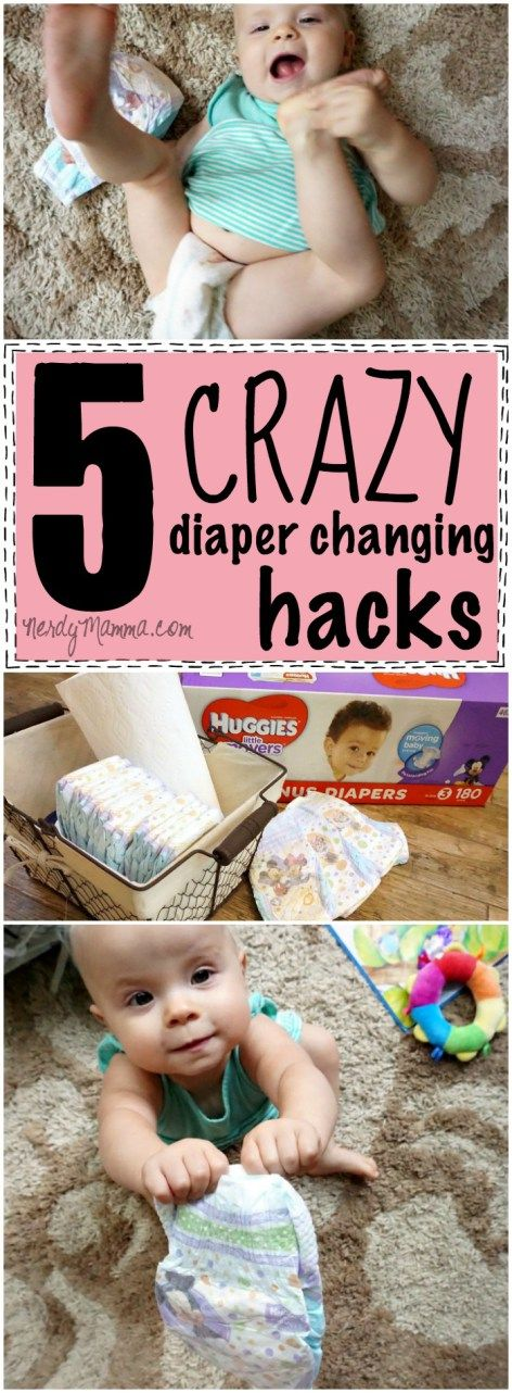 OMG! I love these 5 crazy diaper changing hacks! They're so easy--I can't believe I didn't think of them...and the trick with the pillow cover Genius.