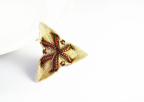 OOAK Flower 3D brooch  brooch  clasp  decoration by SzkatulkaAmi