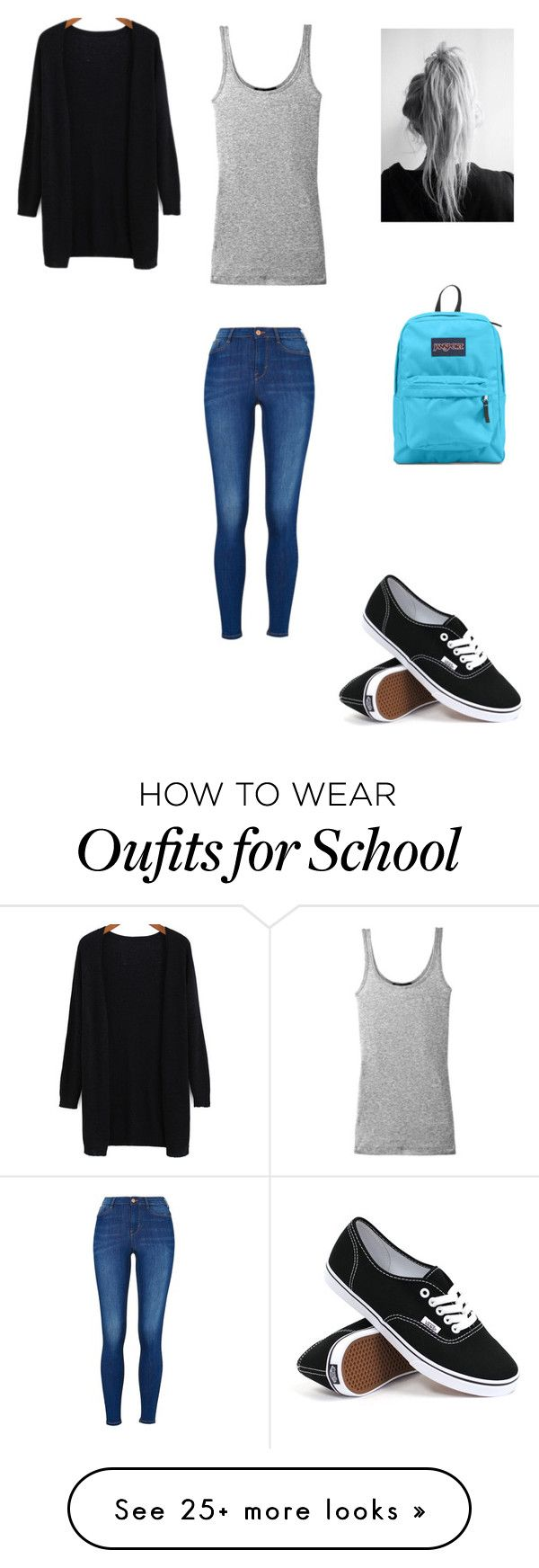 """casual fall school outfit"" by mariah-rose1 on Polyvore featuring Vince, Vans and JanSport"