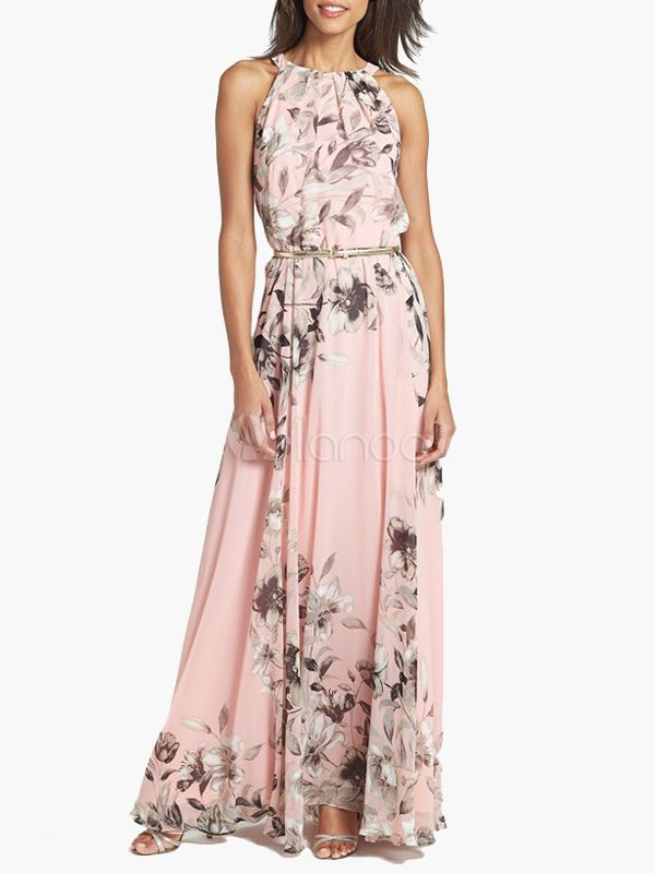 Chiffon Flroal Printed Maxi Dress Modera is your lifestyle.