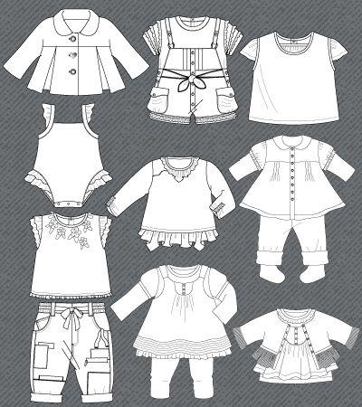set-fashion-flat-sketches-baby-girl
