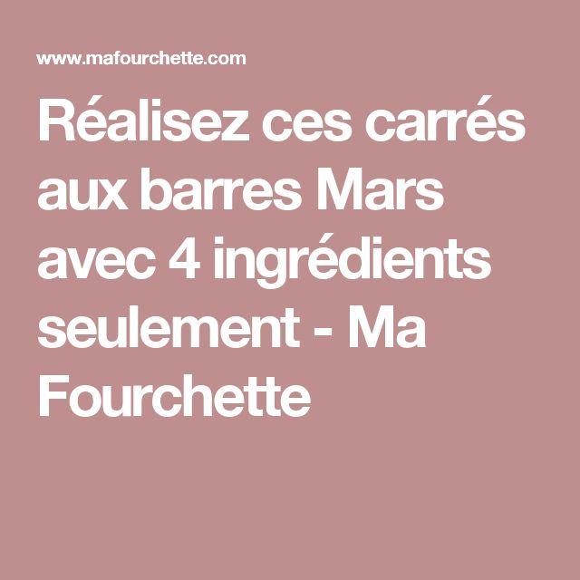 Réalisez ces carrés aux barres Mars avec 4 ingrédients seulement - Ma Fourchette