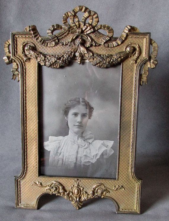 Lovely Antique Victorian Picture Frame with Floral by Neatcurios, $75.00
