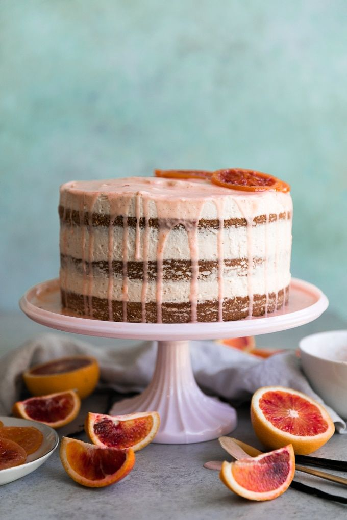 Vanilla Bean Blood Orange Naked Layer Cake With Candied -6709