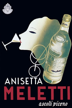 Vintage Italian Posters - Italy. 'Anisetta Meletti'  Artist: Unknown.