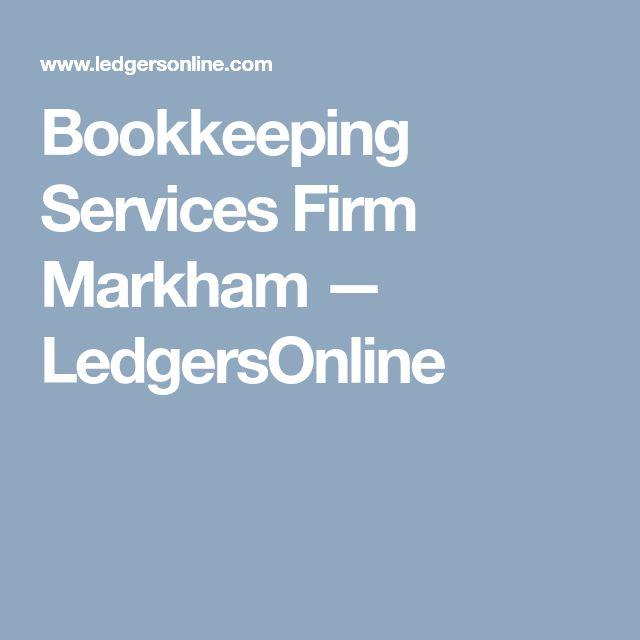 Bookkeeping Services Firm Markham — LedgersOnline