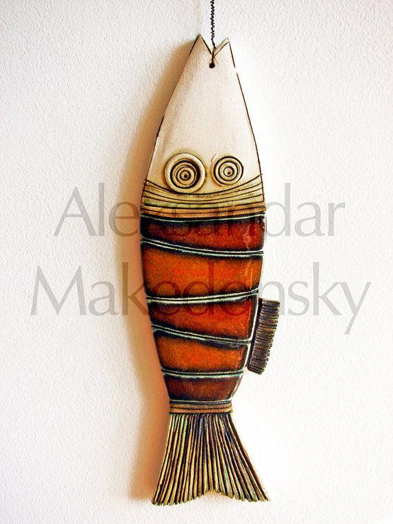 Pesce - piastrella originale a mano arte ceramica - ceramica                                                                                                                                                                                 More