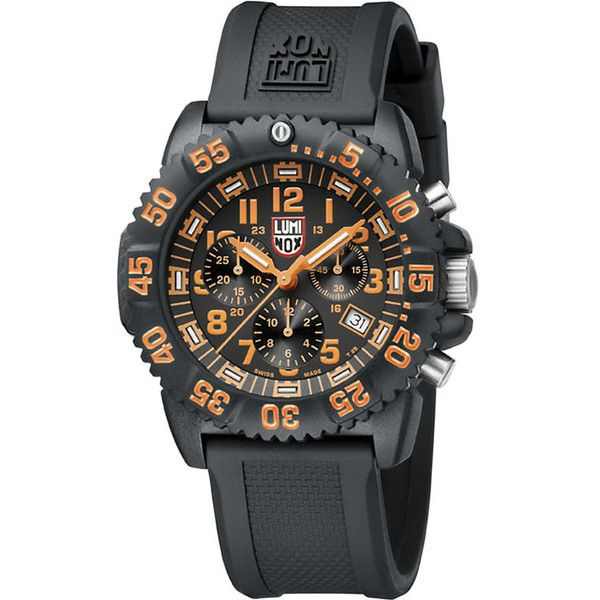 SPYMASTER Luminox 3089 Original Navy Seals watch (£640) ❤ liked on Polyvore featuring men's fashion, men's jewelry, men's watches, navy blue watches, navy jewelry, bezel watches, navy blue jewelry and navy watches