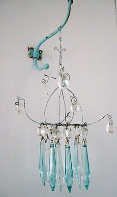 111 best make it with chandelier crystals images on pinterest handmade chandelier painted crystals for ashs room mozeypictures Gallery