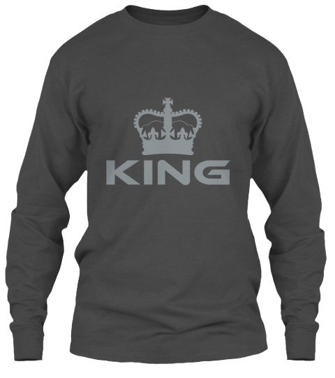 King Charcoal Long Sleeve T-Shirt Front
