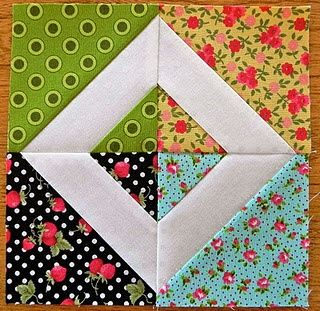 Quilt Block- I would like to do this but keep it more symetrical