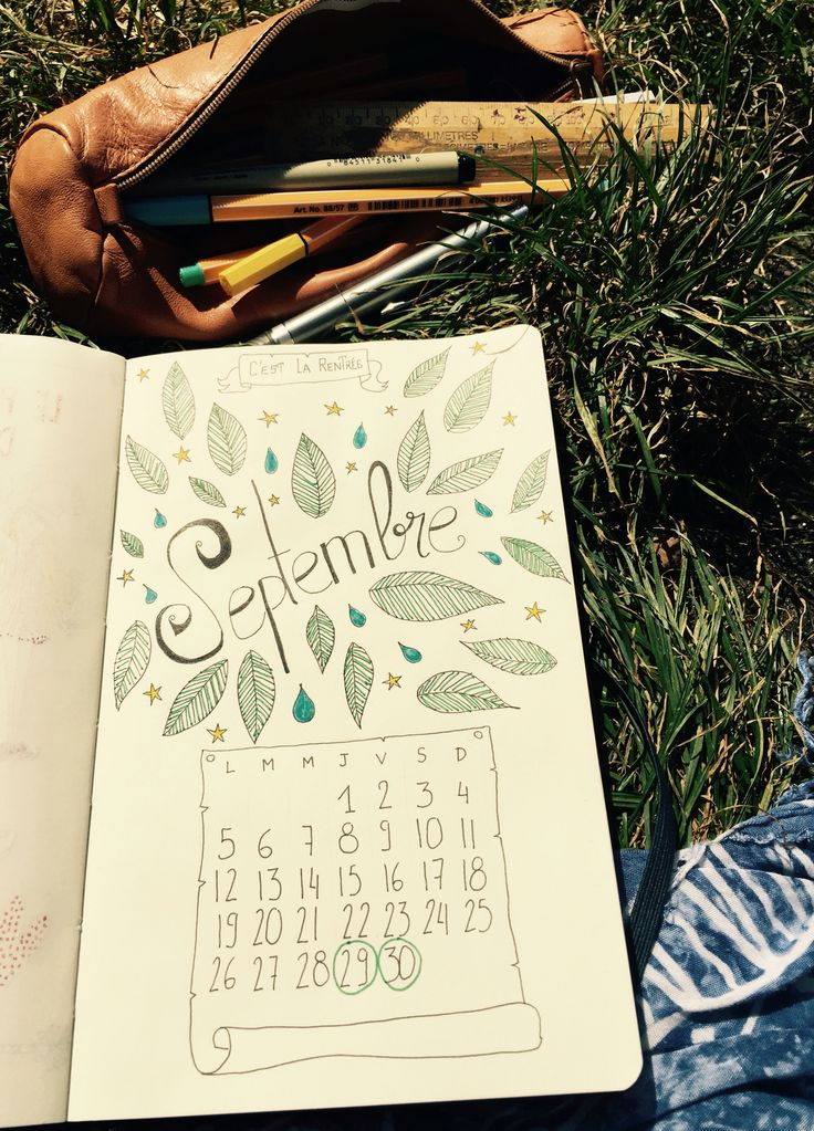 C'est la rentrée ! #septembre #bulletjournal #sketchnotes #ink #calendar