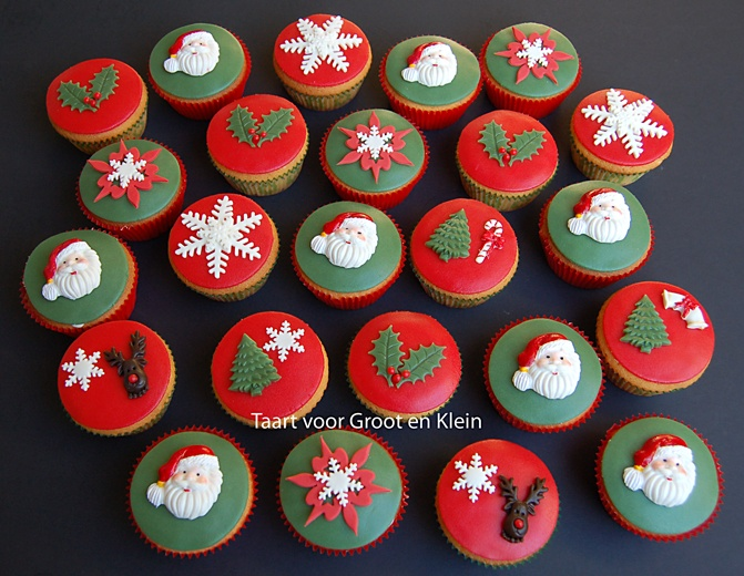 Wat een schattige kerst cupcakes!