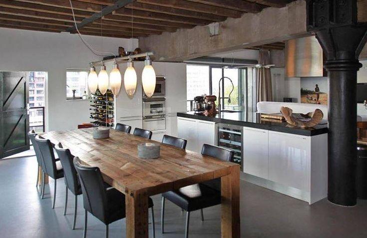 Motionvloer PU gietvloer in keuken - vloer met betonlook