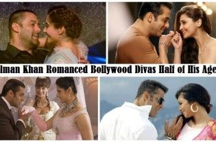 Despite of being 40+ Salman Khan romances the girls who are half of his age.Currently working with Sonam in Prem Ratan Dhan Payo,have a look at a few such divas who were too young to romance Sallu Miya. Salman Khan And Daisy Shah ◄ Back Next ► Picture 1 of 7 When name of Daisy was announced for 'Jai Ho',...  Read More