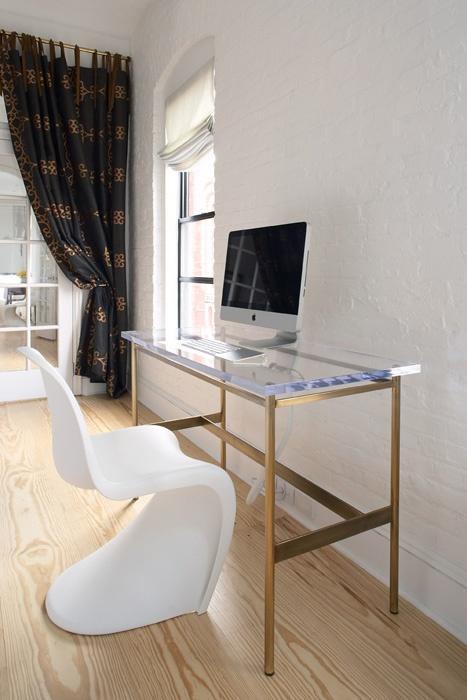 magdalena keck interior design lucite top - Lucite Desk