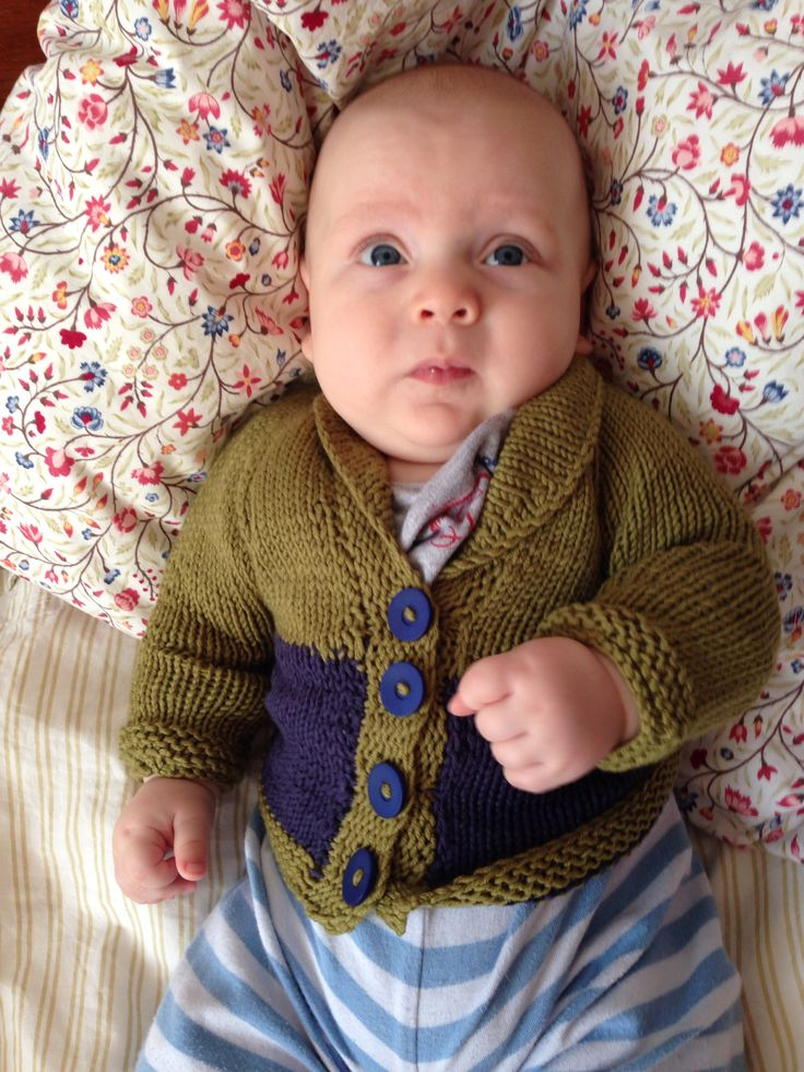My little perfect nephew in cardigan I made for him. Isn't he adorable? ❤️