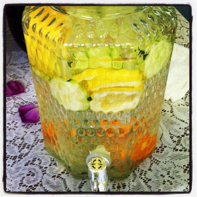 refreshing drink...orange, lemon, cucumber water