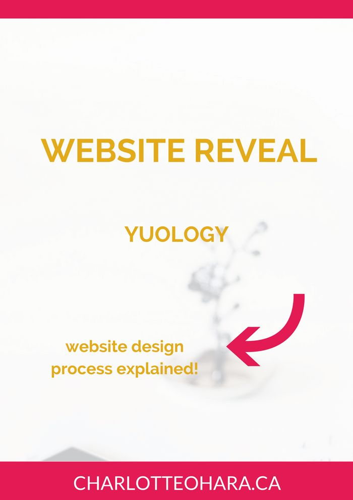 Website reveal for YUOLOGY | Want to know what goes into a website redesign project? A lot of strategy, playing around with the site's backend and a little bit of creativity! In this article, I show you exactly what changes we made to the existing website and I explain why we designed the site that way. There was a lot of strategy involved in this website redesign and it payed off! Click through to read more or pin and save for later!