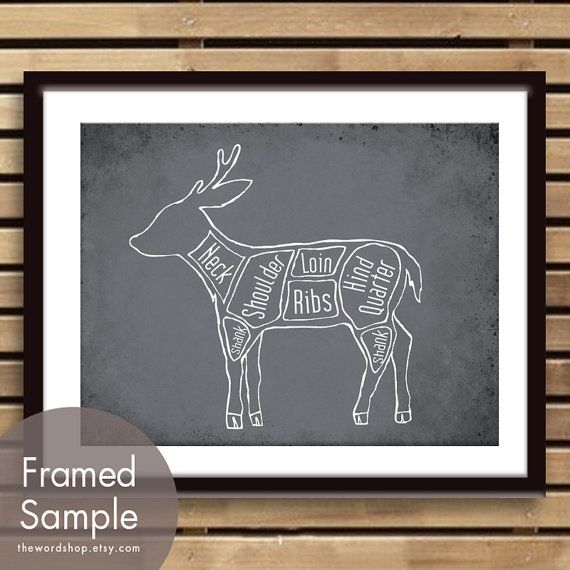 Venison aka Deer Butcher Chart11x14 Print featured by TheWordShop, $15.95