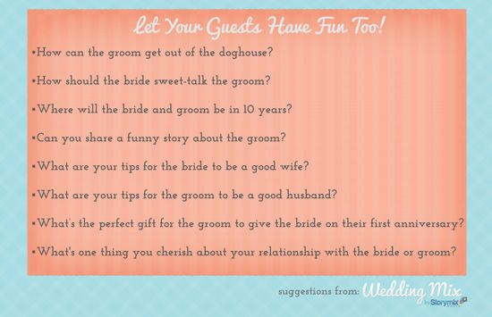 """Interview"" your guests for a funny, personalized wedding video! Here are some cute question ideas to get you started."