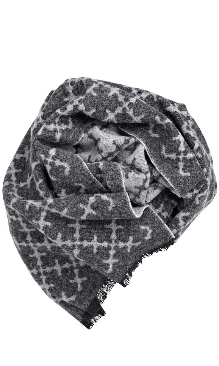 Ominda Wool Scarf Grey - Scarves - Accessories