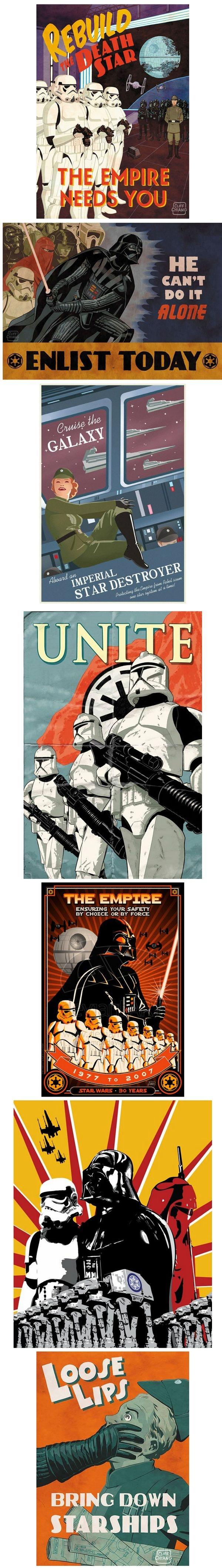 ______________________________________________________________________________________________________________________  Propaganda posters de las Fuerzas Imperiales y de la Alianza Rebelde de Star Wars