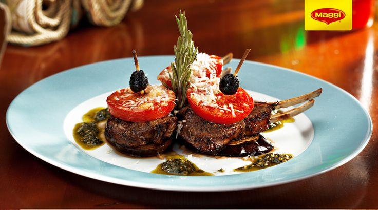Lamb with tomato and cheese // Miel cu tomate si branza  Descopera si mai multe retete de Paste cu miel pe www.maggi.ro/retete