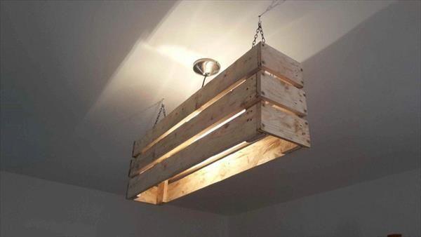 DIY Pallet #Ceiling #Light   Pallet Furniture DIY